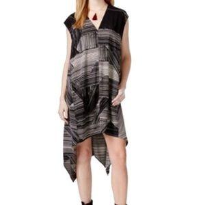Rachael Roy abstract striped sheath dress medium